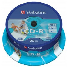 CD-R VERBATIM 700MB 80MIN 52X PRINTABLE T.25
