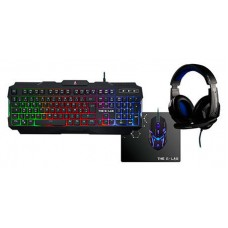 COMBO GAMING TECLADO RATON AURICULARES THE G-LAB COMBO-ARGON/SP