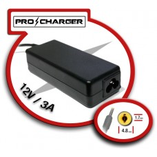 Carg. 12V/3A 4.8mm x 1.7mm 36w Pro Charger